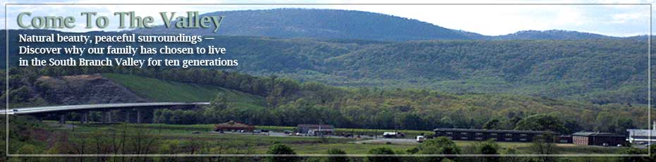 Panoramic View of The South Branch Valley